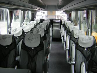 Interior of the Supra bus
